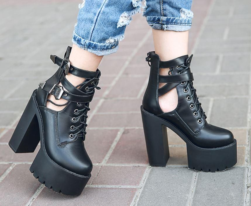 02bab79a8 Korean Black Strap High Heels Platform Shoes SD01002 – SYNDROME - Cute  Kawaii Harajuku Street Fashion Store