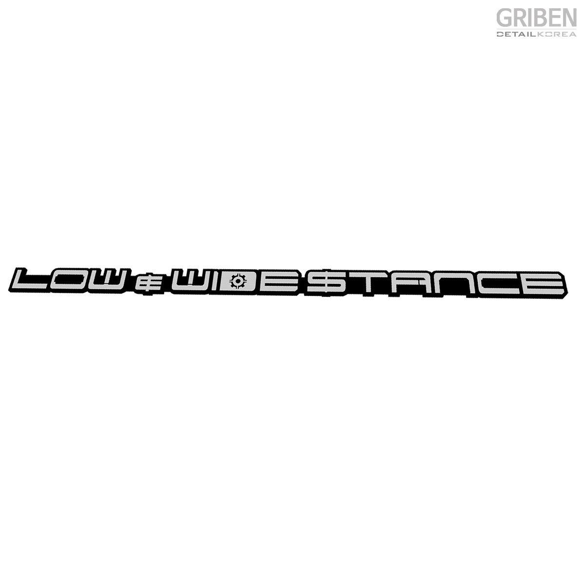 Griben Car Slogan Emblem Badge Silver 30198 for Hyundai Kona