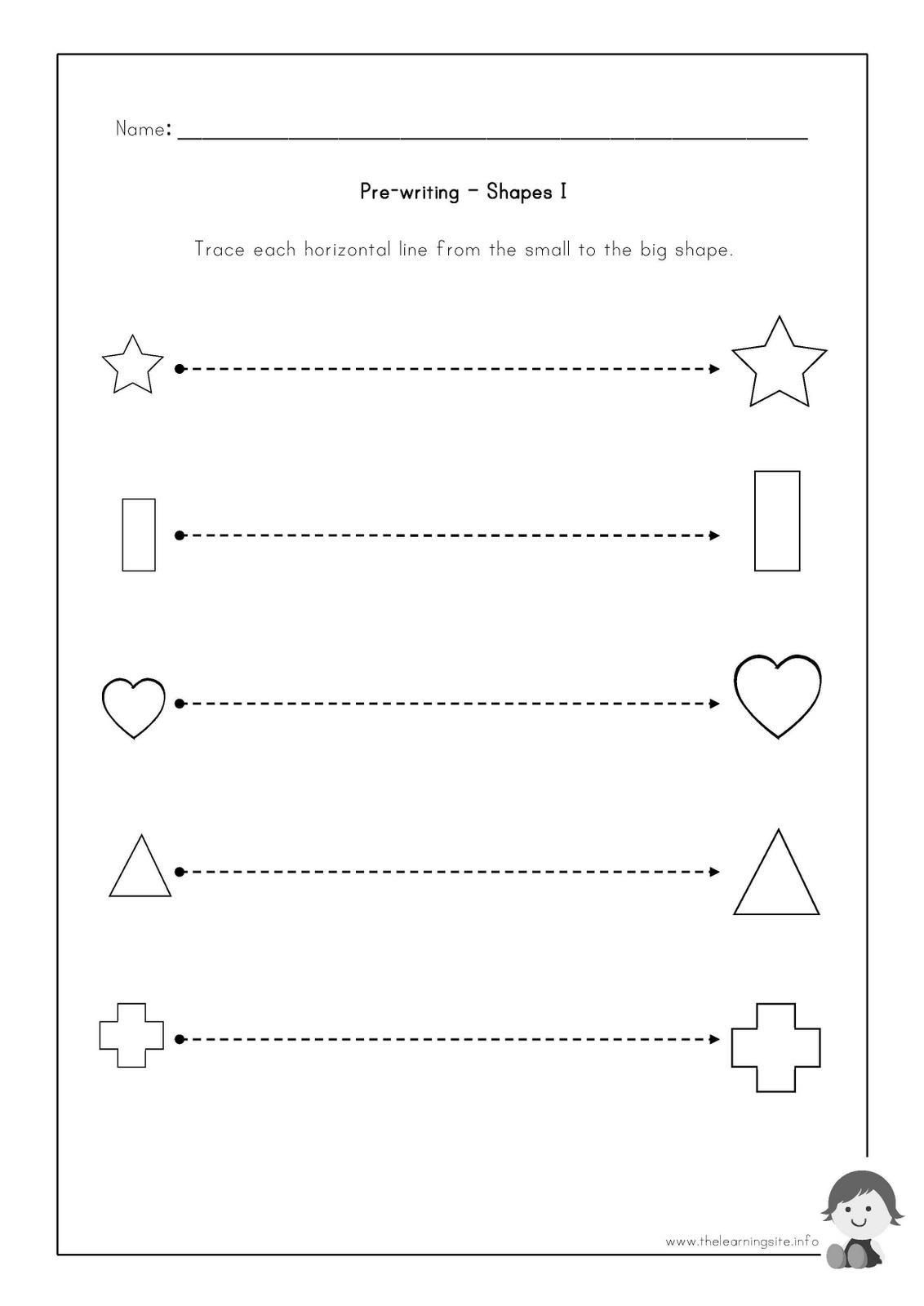Pre Writing Shapes Worksheets The Learning Site Pre