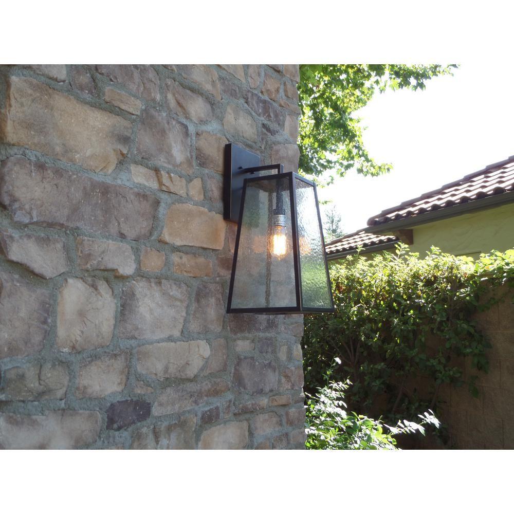 Y Decor 1 Light Oil Rubbed Bronze Outdoor Wall Lantern Sconce Light El866ldiorb The Home Depot Outdoor Wall Lantern Wall Lantern Outdoor Walls