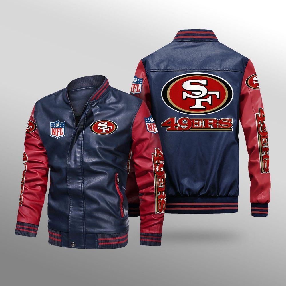 San Francisco 49ers 2da2825 Mpt Sport Leather Jacket Style Leather Jacket Leather Bomber Jacket [ 1000 x 1000 Pixel ]