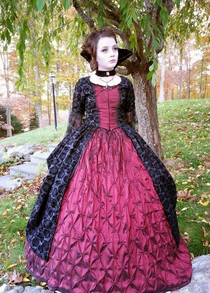 So Much Halloween! Vampire dress, Dresses, Victorian dress