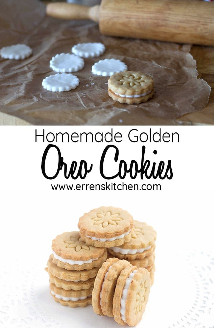 Homemade Golden Oreo Cookies These homemade Golden Oreo Cookies are sweet, decadent and delicious, They make a perfect snack, party food or even dessert, They're so easy to make why not get the kids involved?