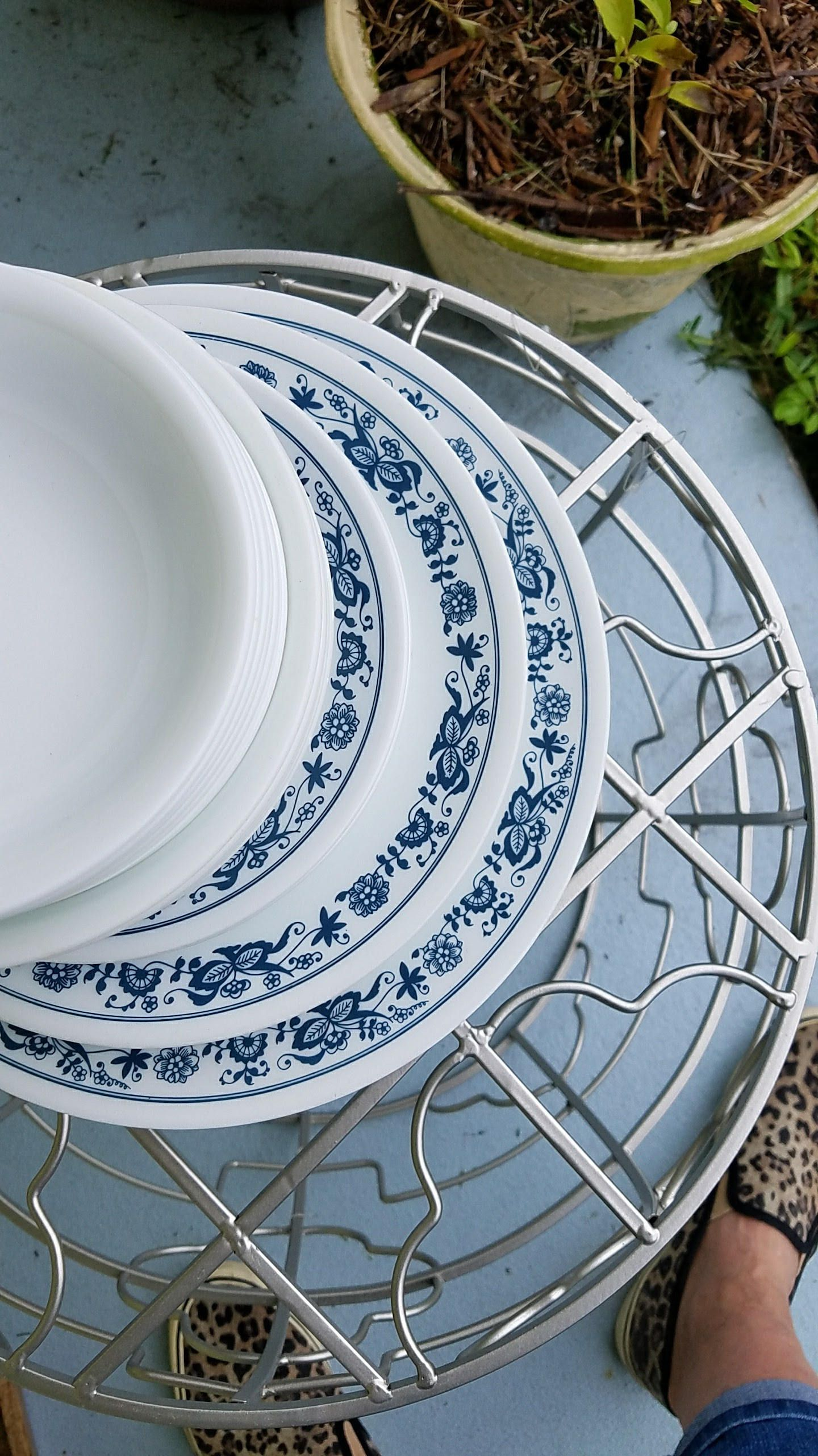 Corelle old town blue dishes large set by cheapchina on etsy