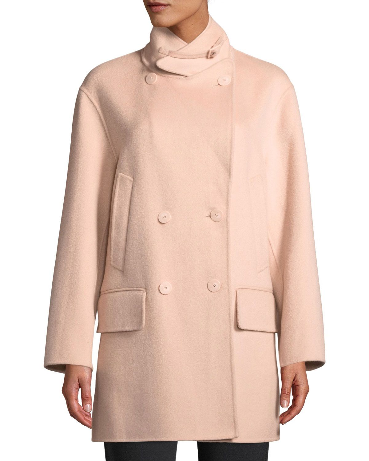 7ad244c144d Emporio Armani Double-Breasted Cashmere Pea Coat in 2019 | NOT ...