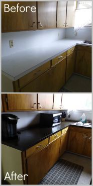 Updating Counter Tops with Spray Paint | Painting kitchen ...