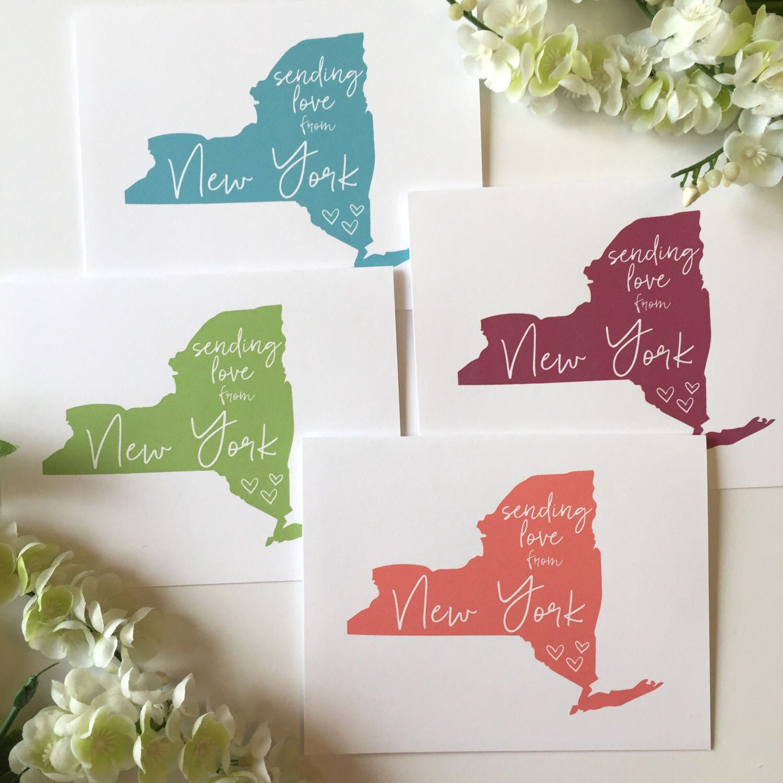 Love From New York Sending Love New York Card Nyc