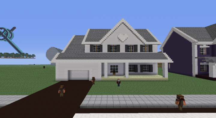 Suburban House 3 Minecraft Project Minecraft Suburban House Minecraft House Designs Minecraft House Tutorials