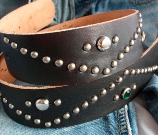 Handmade studded belt, western belt, rockabilly belt, motorcycle belt