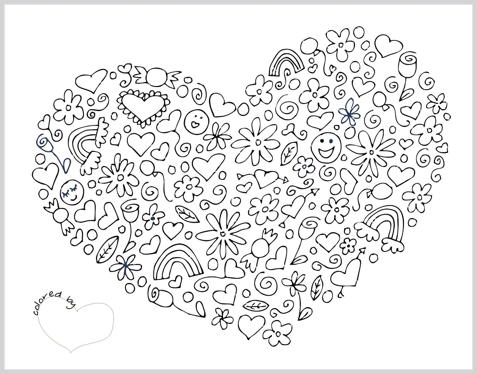 Coloring pages for adults valentines day - Free Coloring Pages For Adults Printable Hard To Color Coloring