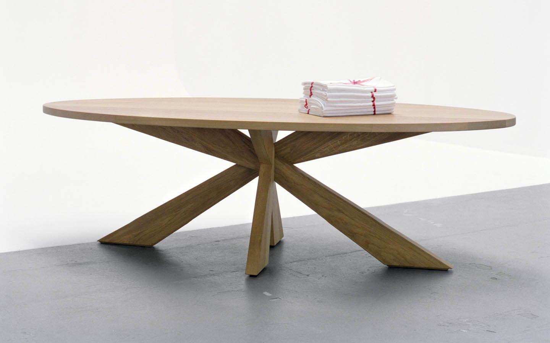 Longlegs design ovale tafel mooi laten maken van onze for Stalen onderstel tafel laten maken