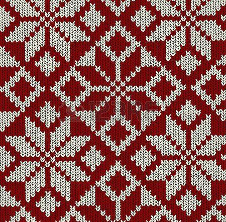 Navidad patr�n de Noruega en rojo y blanco con los copos de nieve photo
