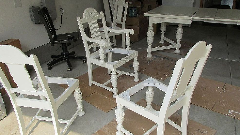 Diy 1920 S Vintage Table Chairs Redo Table Chairs Chair Redo