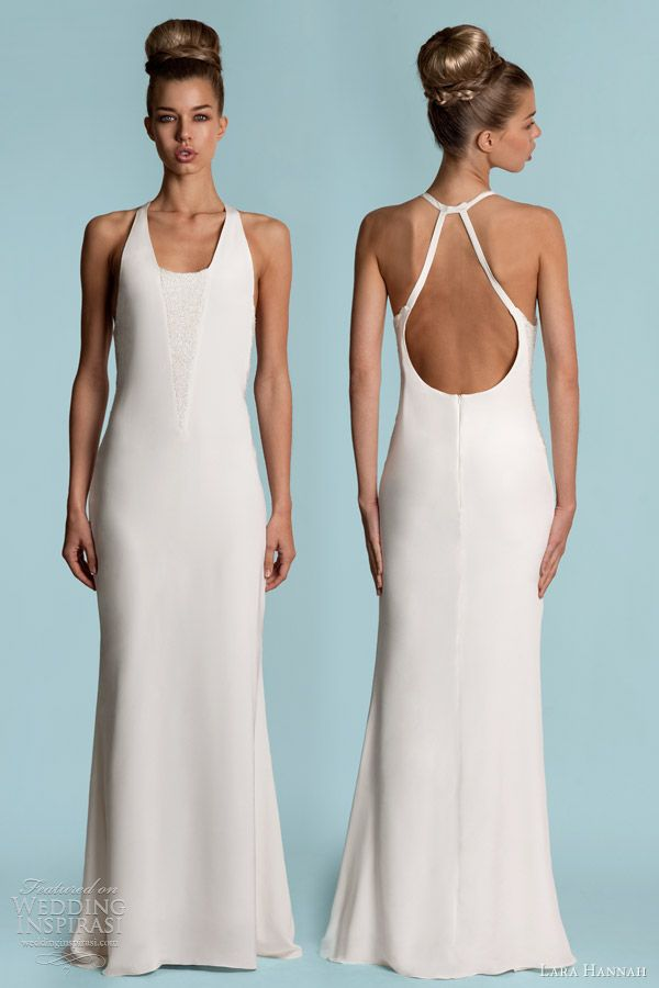 Lara Hannah Wedding Dresses Spring 2013 | Halter neck, Bugle beads ...