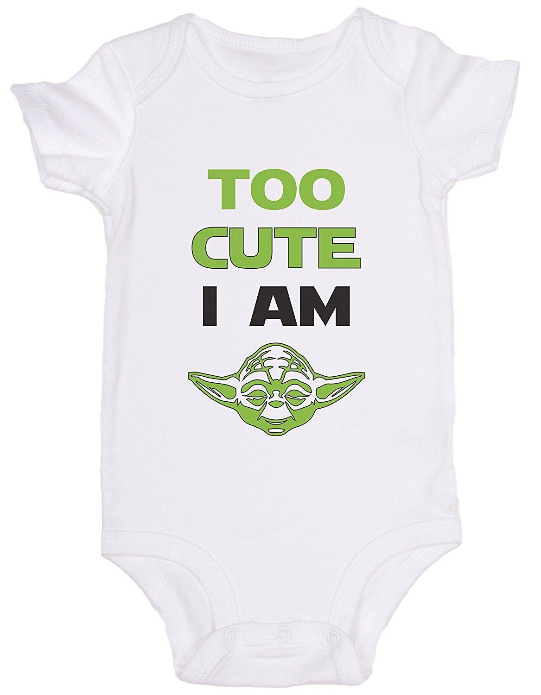 """Amazon.com: """"Too Cute I Am"""" / Star Wars / JoviGear / Cute ..."""