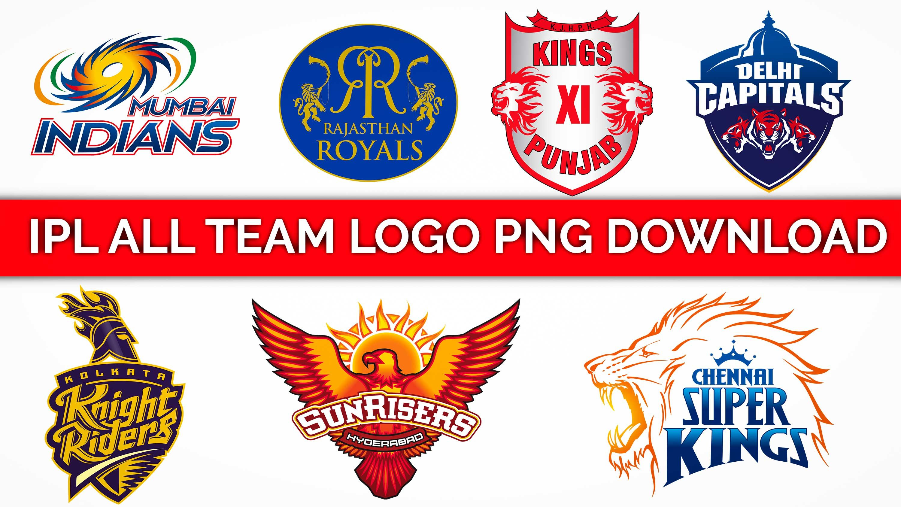 IPL 2019 all team's logo png free download for picsart