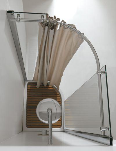 Immagine correlata tenda vasca pinterest tenda e bagno - Tende per doccia in tessuto ...