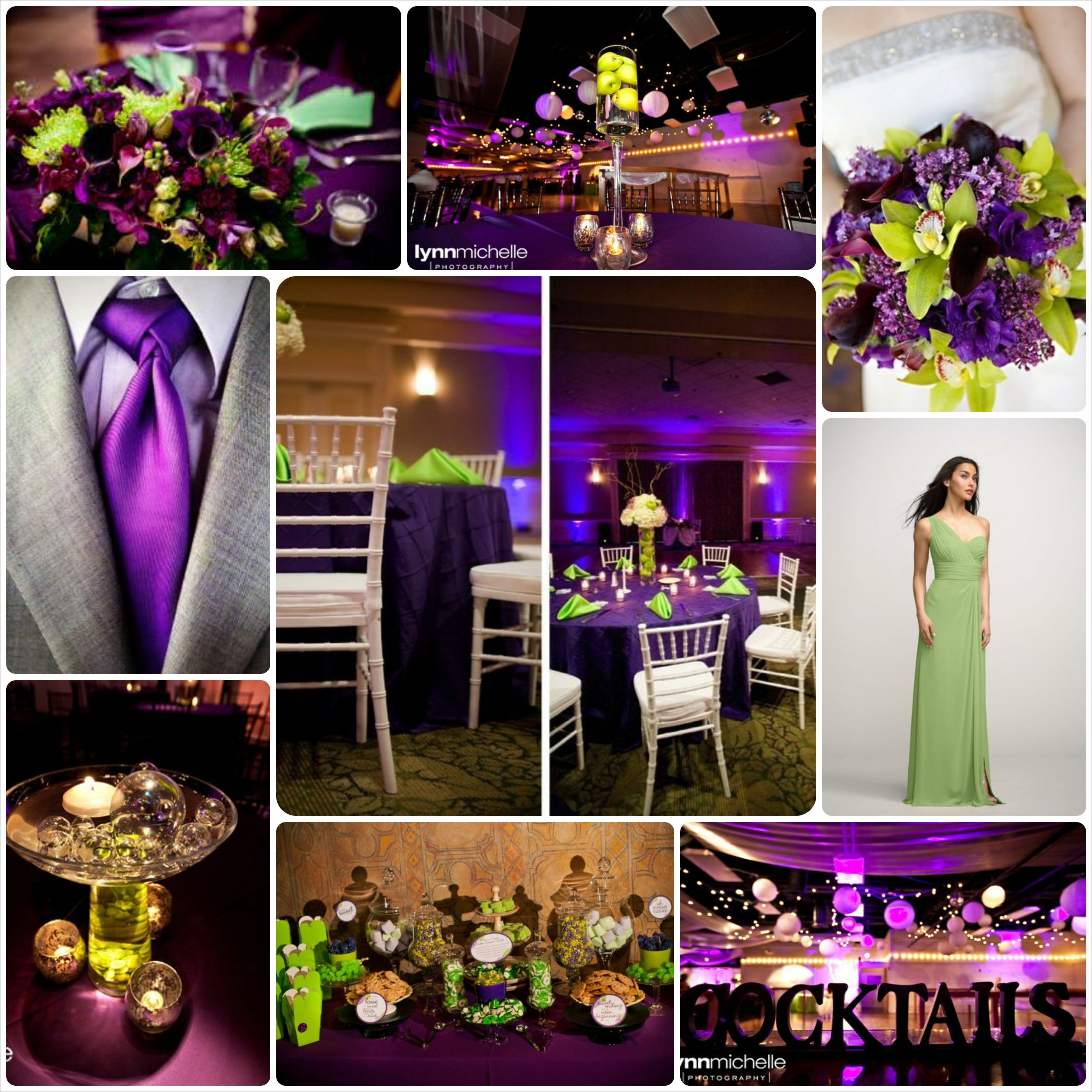Purple And Green Wedding In 2019
