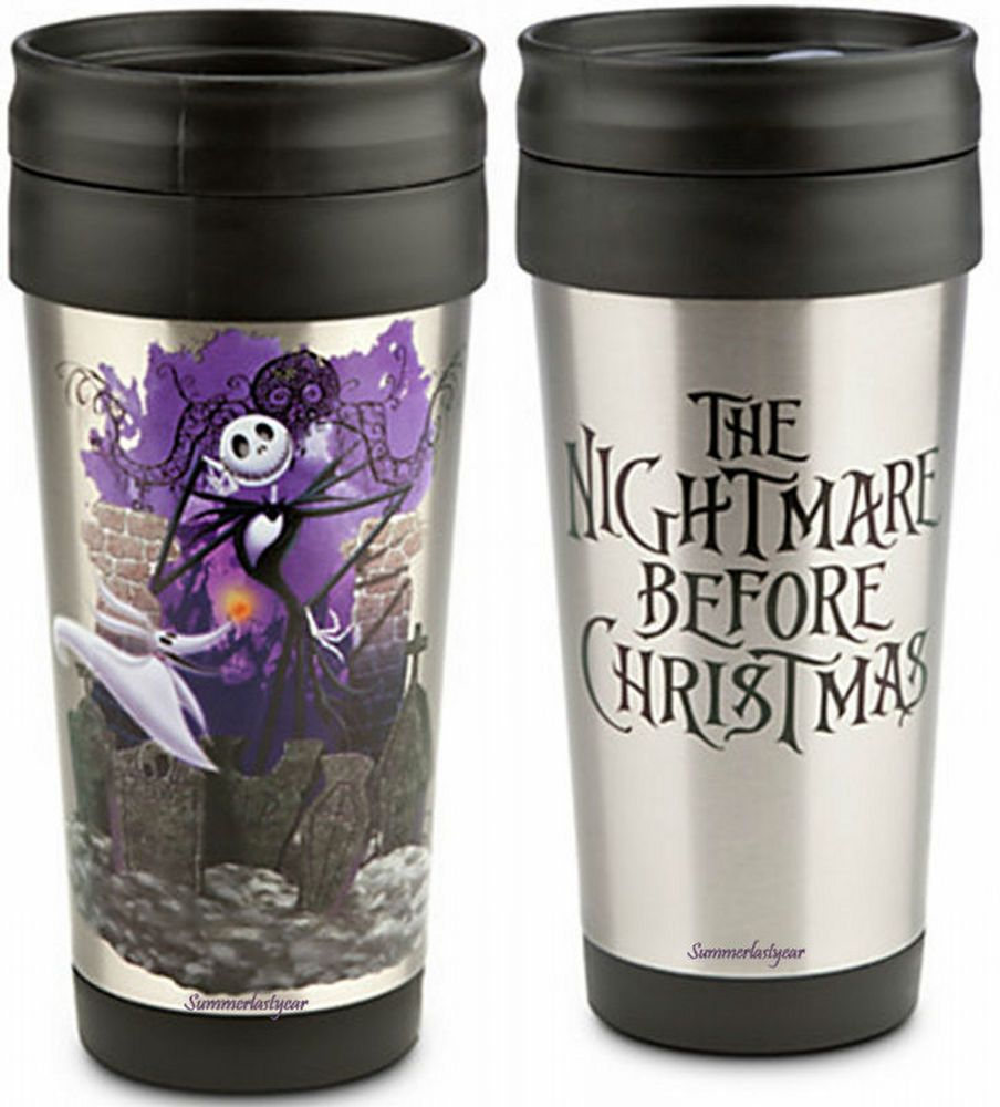 JACK SKELLINGTON ALUMINUM TRAVEL MUG~DISNEY STORE~THE NIGHTMARE ...