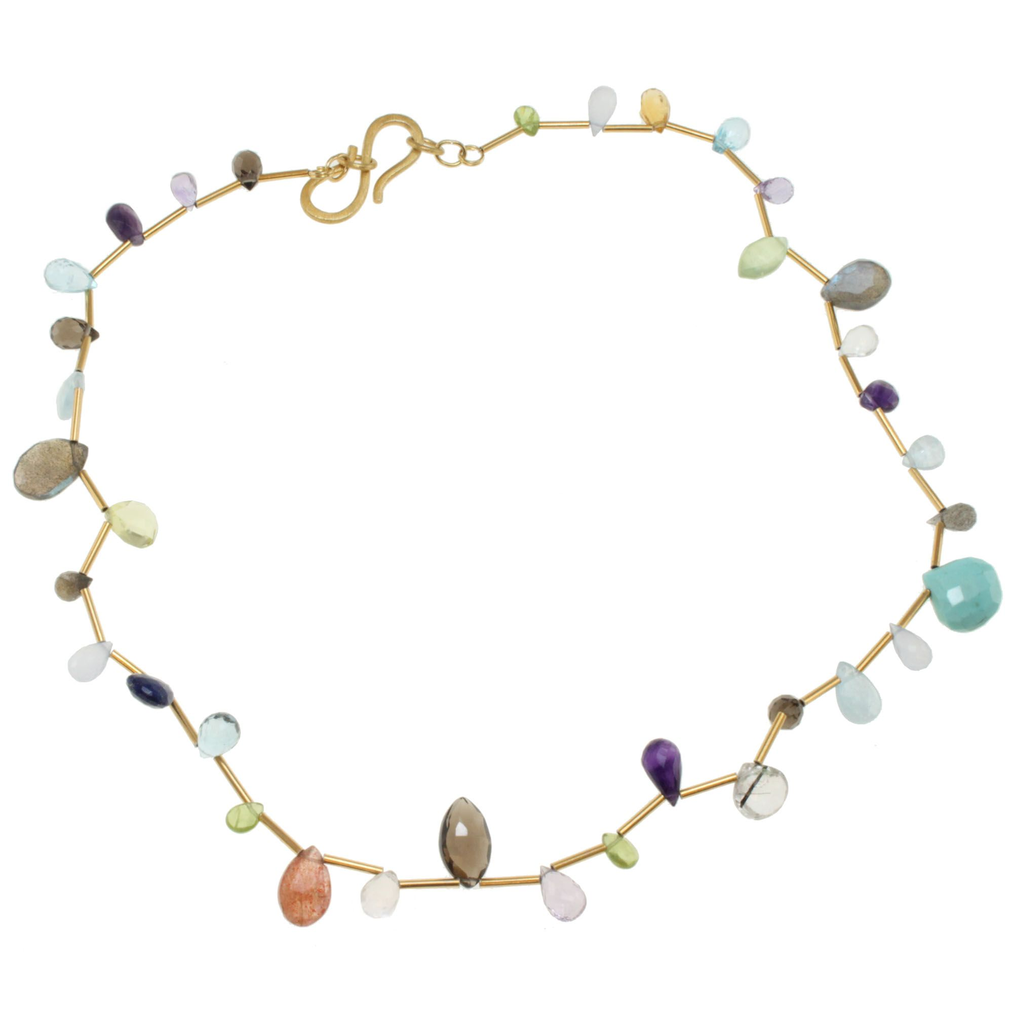 necklace gemstone lollitini ippolita gold multi lollipop in