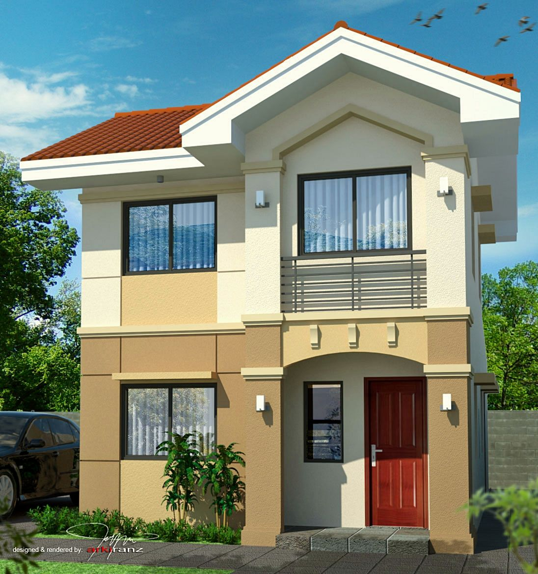 planos de casas pequenas y bonitas de dos pisos