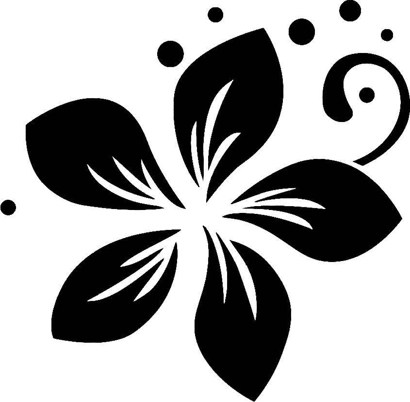 Farkli Bir Cicek Deseni Flower Stencil Wood Painting Hand Made