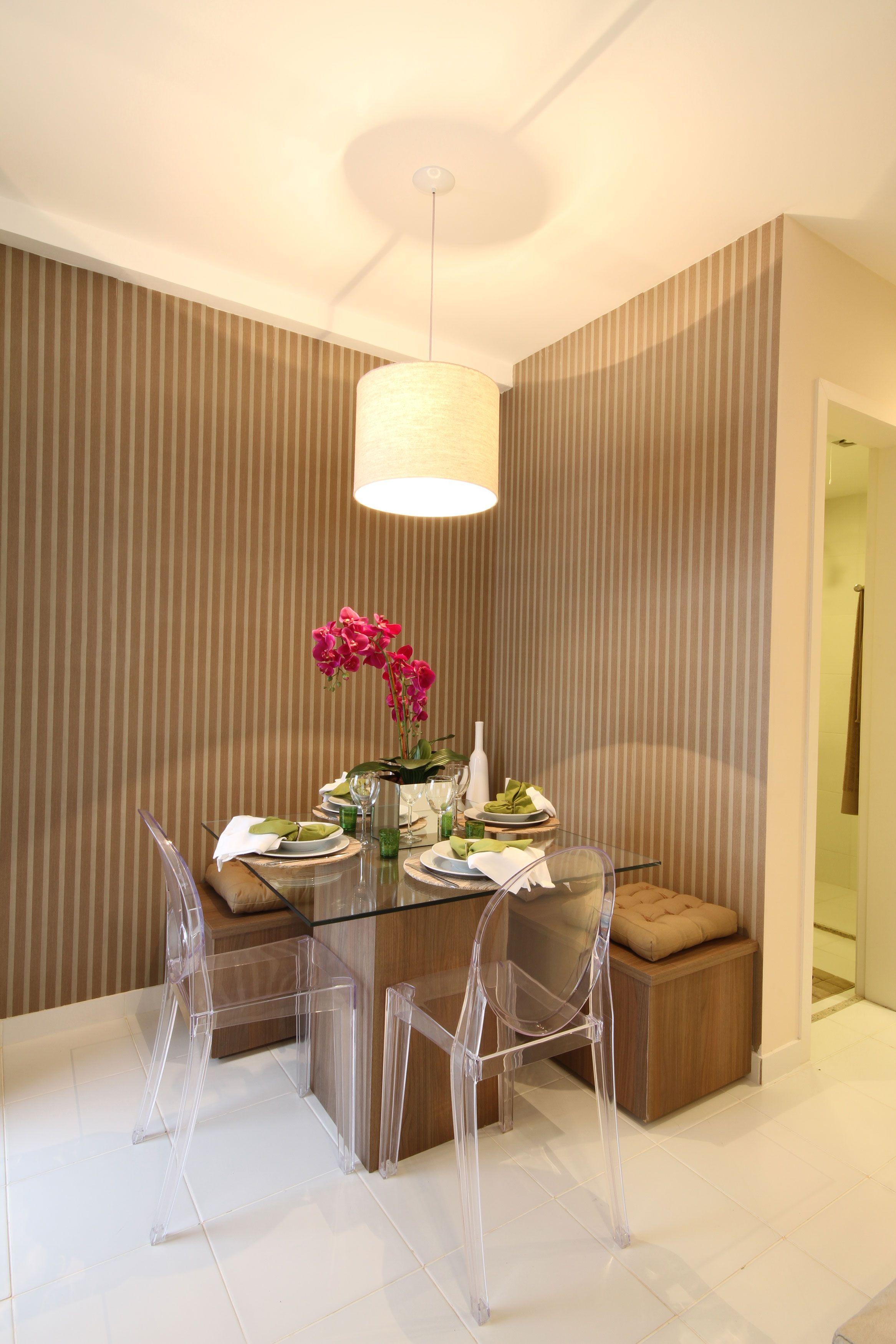 Mesa de Jantar, com um lado colado à parede | Home | Pinterest ...