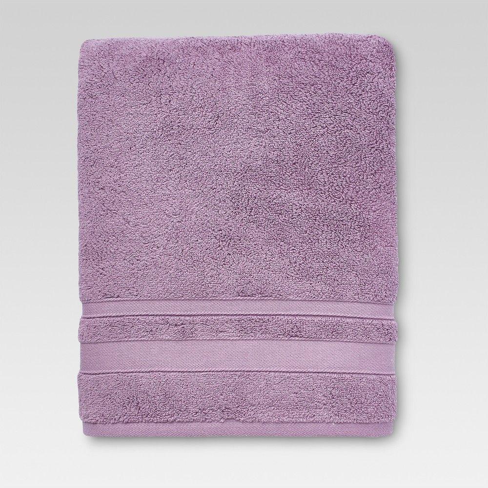 Performance Solid Bath Towels Purple - Threshold | Towel ...