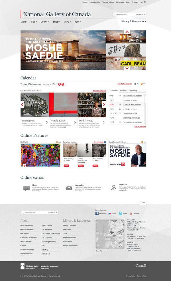 National Gallery Of Canada Carbure Grey Portal Slider Web Development Design Portal Design Web Design