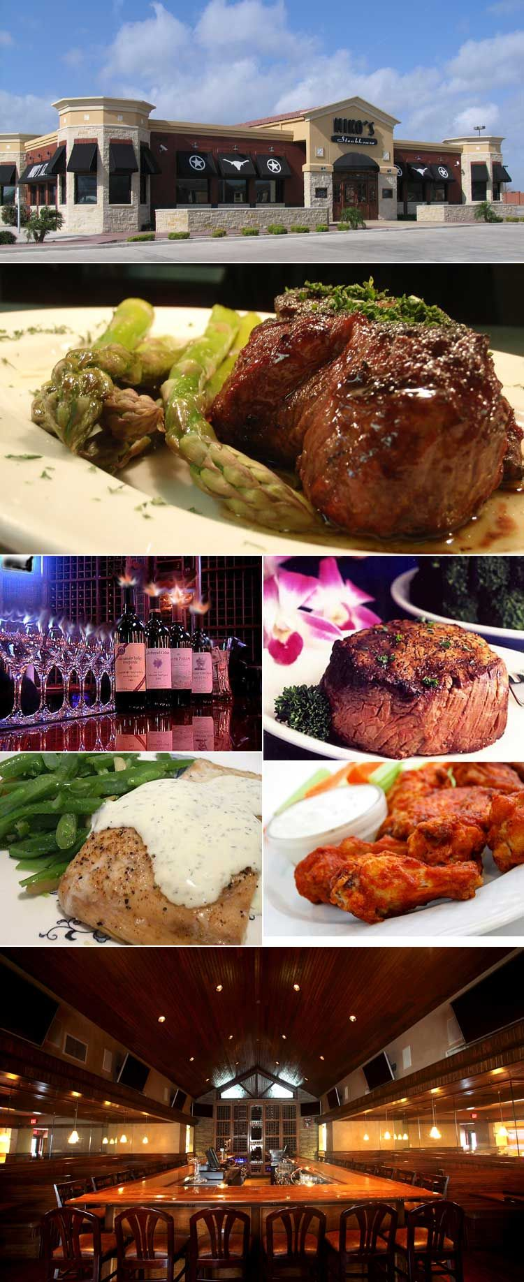 Nikos Steakhouse Restaurant In Corpus Christi Texas