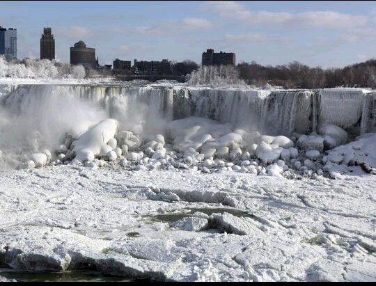 Niagara Falls frozen...Almost during Jan 2014 winter