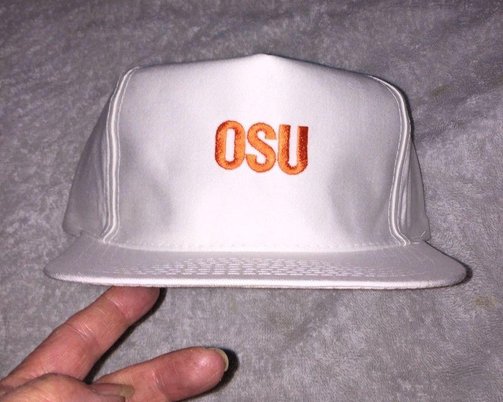 Vtg 1990s Oklahoma Cowboys Phillips 66 Snapback Hat Cap Big 8 Basketball  OSU NOS  DesignAwardHeadwear b4523f99efb8