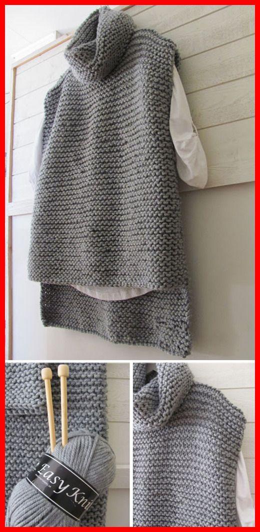 Photo of Easy Knit Women Sweater Vest – Free Pattern – Stricken ist so einfach wie 1, 2, …