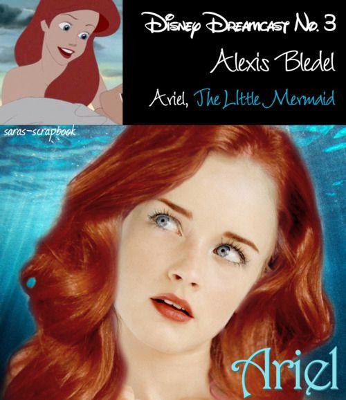 Ariel=Alexis Bledel #disneycharacters