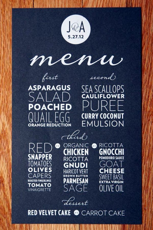 40 Smart And Creative Menu Card Design Ideas | Menu card design ...