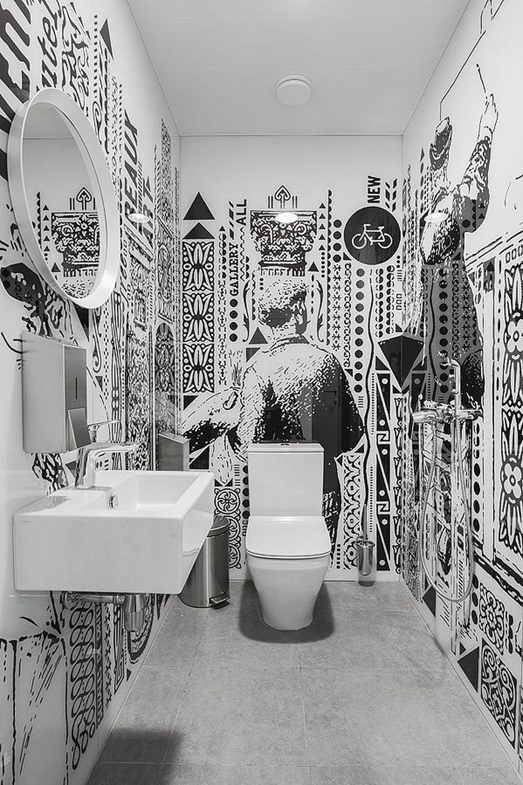 38 cozy small office bathroom designs ideas