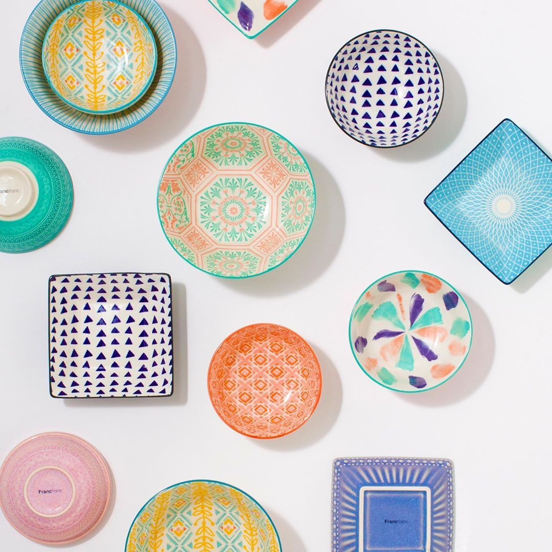 francfranc フランフラン op instagram ㅤㅤㅤㅤㅤㅤㅤㅤㅤㅤㅤㅤㅤ 食卓をカラフルに彩る色々皿 いろいろなカラーや模様を 敢えてランダムに集めるのがおすすめです ㅤㅤㅤㅤㅤㅤㅤㅤㅤㅤㅤㅤㅤ francfranc フランフラン 프랑프랑 franc plates tableware