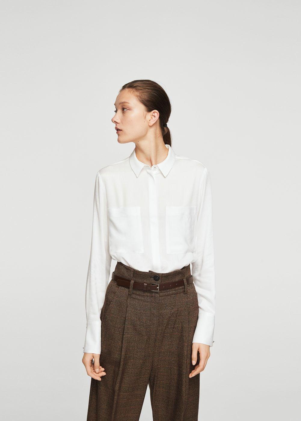 25c91d702bd8 Pockets flowy shirt - Women in 2019