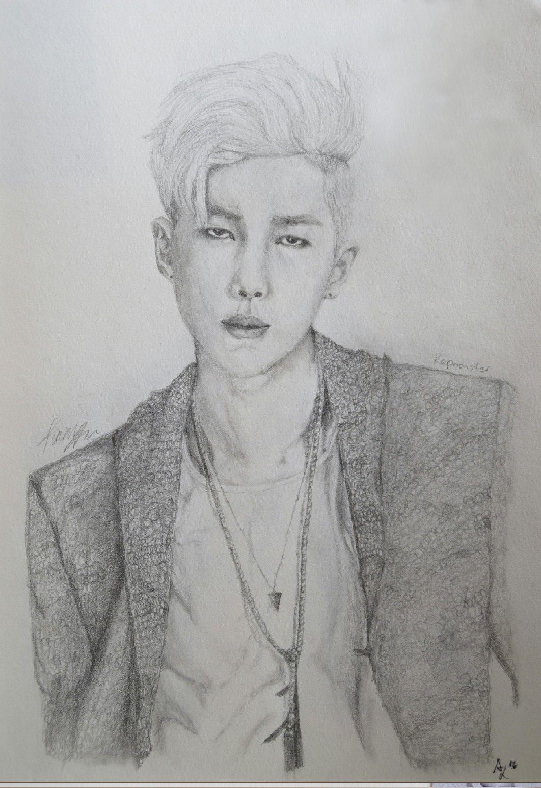 Art, Drawing, BTS, Rapmonster