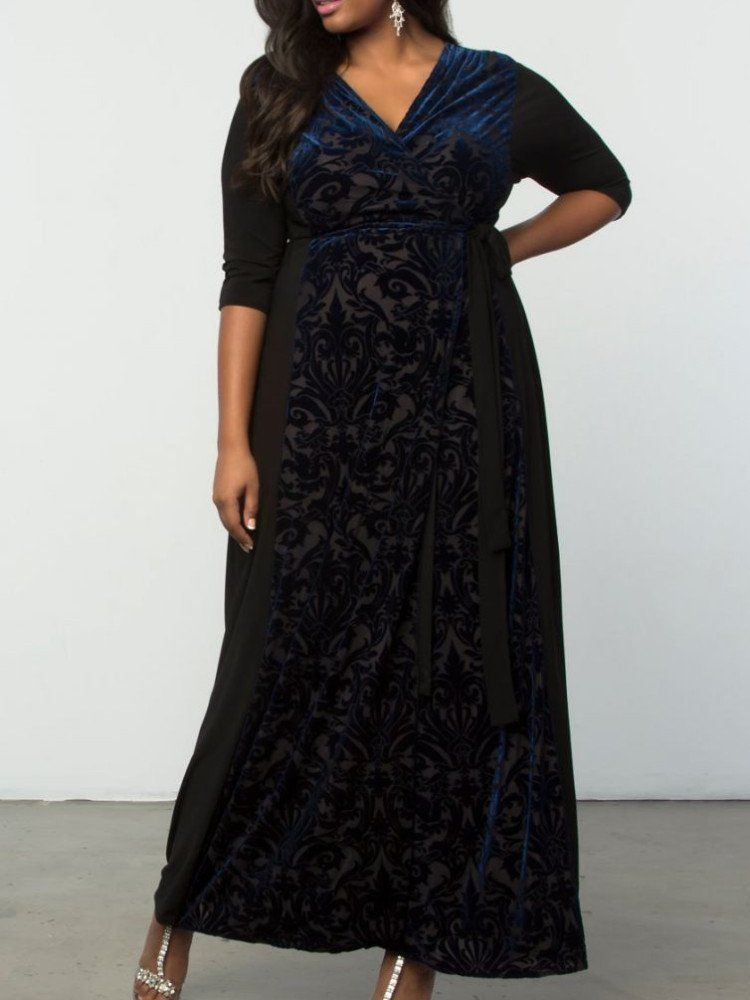 77e2a2c466d Our NEW Plus Size Ornate Velvet Maxi Dress will have you holiday-ready!  Shop www