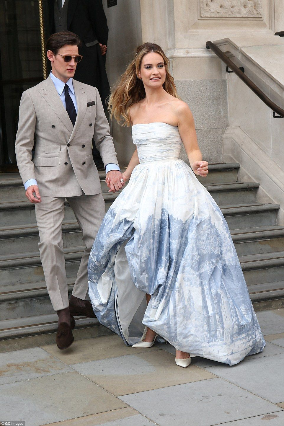 Amanda Seyfried Dr House lily james wows in strapless ivory gown at mamma mia 2