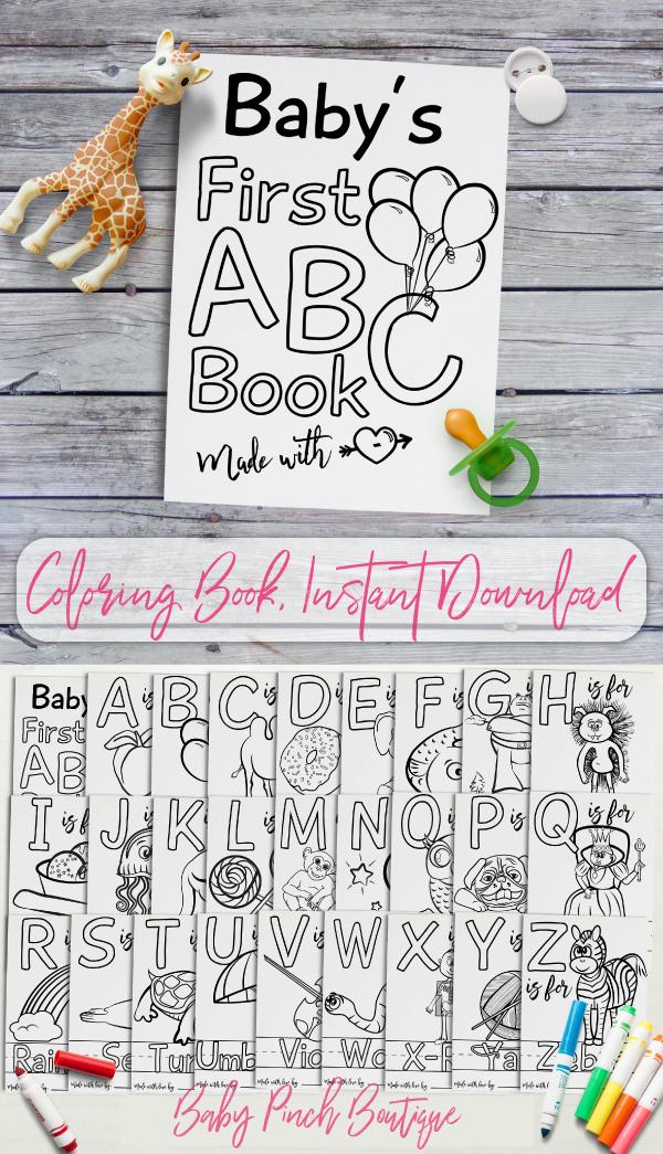 Abc Baby Shower Book A Unique Guest Book Activity Baby Shower Activities Baby Shower Crafts Baby Shower