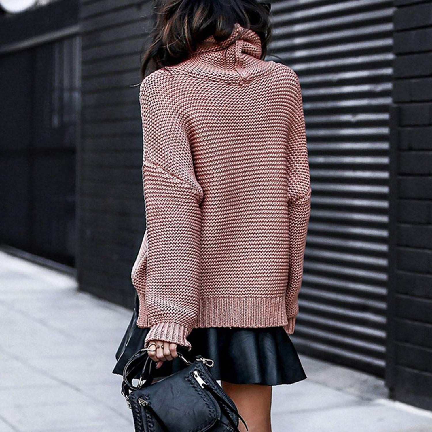 Cyose Fashion Turtleneck Sweater Women Pullovers and Sweater Female Knitted Sweater Women Loose Pullover Tops