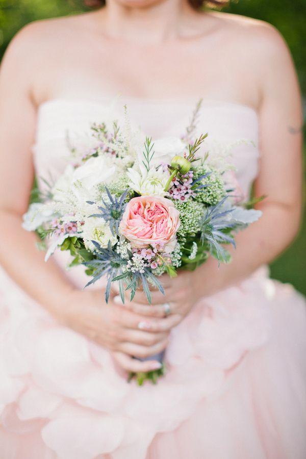 Blush Pink Maine Wedding Ruffled Wedding Rustic Wedding Flowers Wedding Bouqet
