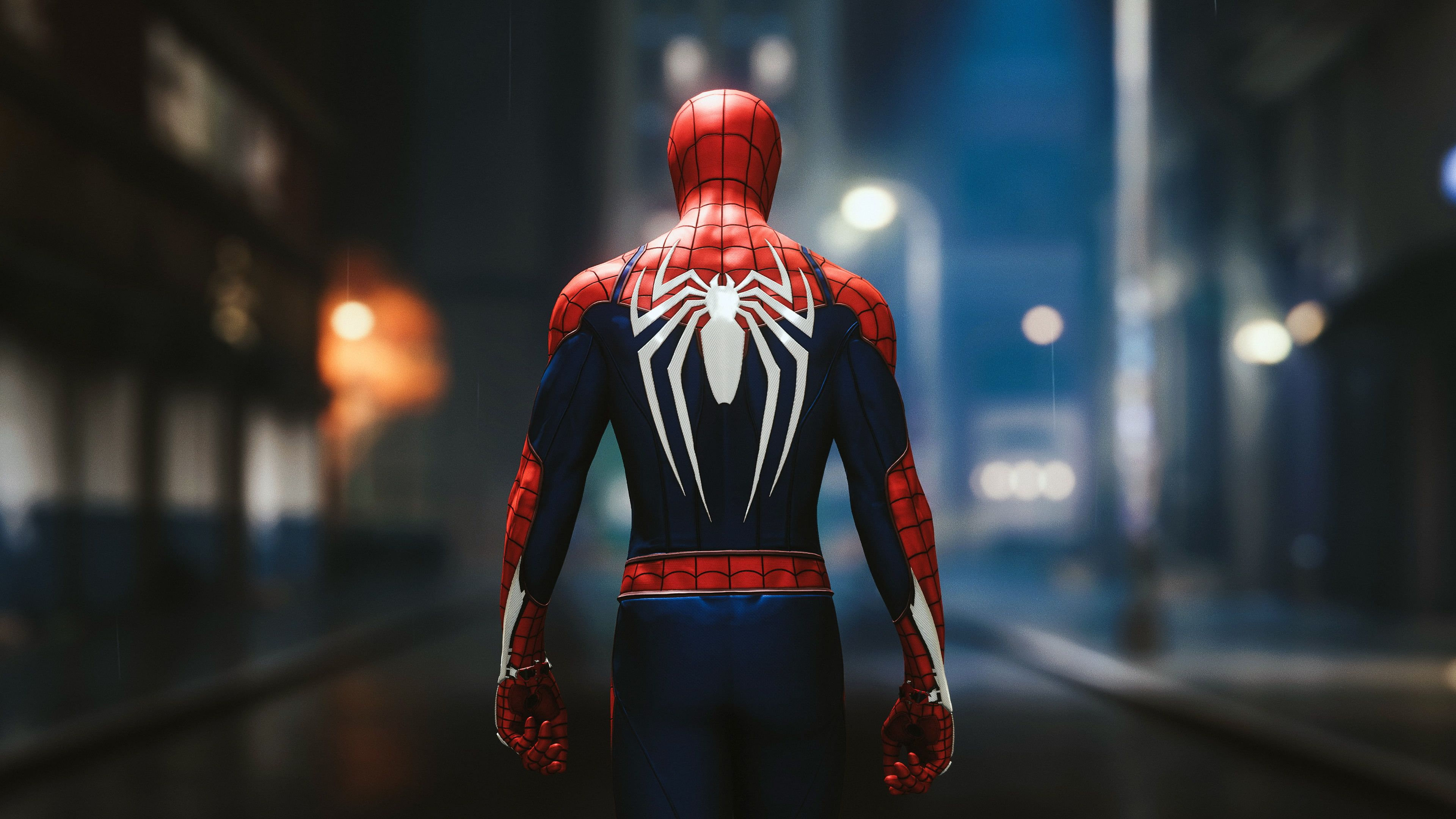 Spider Man Spider Video Games Superhero Marvel Comics Rear View 4k Wallpaper Hdwallpap In 2020 Superhero Wallpaper Superhero Wallpaper Hd Spiderman Ps4 Wallpaper