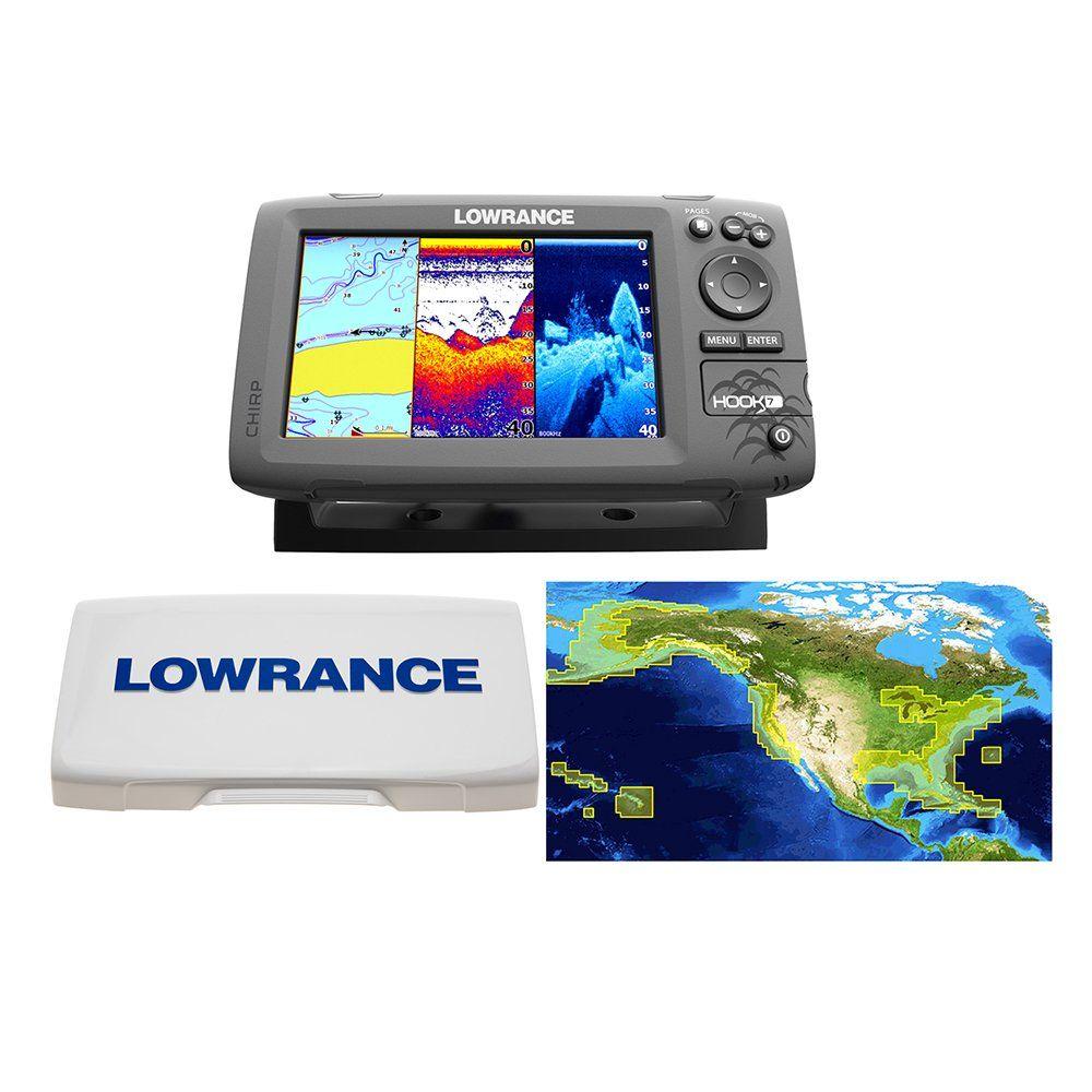 Lowrance Hook7 Nautic Insight Sonar/GPS Mid/High/Downscan