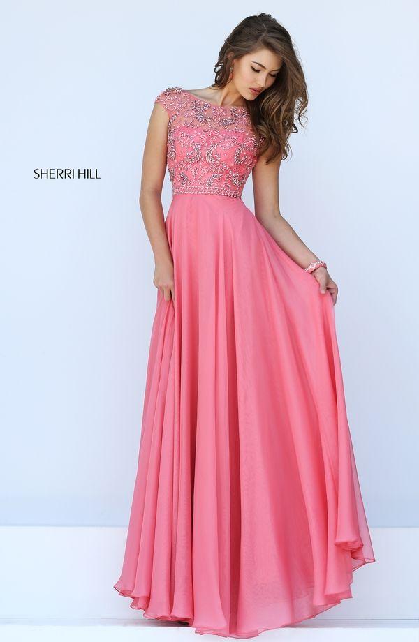 Fashion Bateau Neckline Crystal Prom Dress Sherri Hill 50132 | JCDQ ...