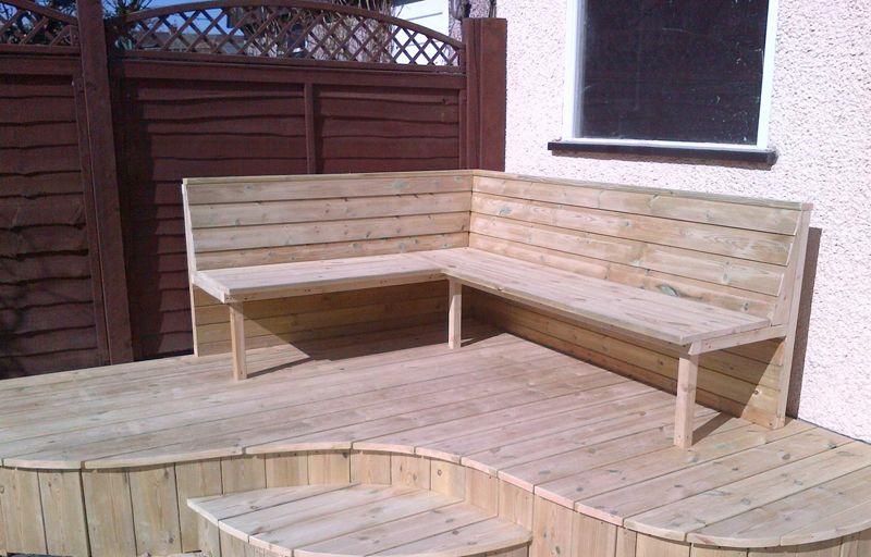 Backed Seating | Kingfisher Decking | Garden seating! | Pinterest