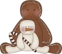 CHRISTMAS GINGERBREAD AND SNOWMAN CLIP ART