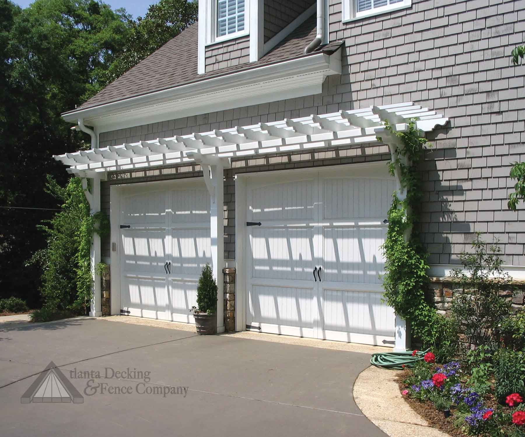 1500 #4B5E38 Pergola Garage Garage Trellis Vinyl Pergola Outdoor Projects Outdoor  picture/photo Overhead Doors Atlanta 36591800